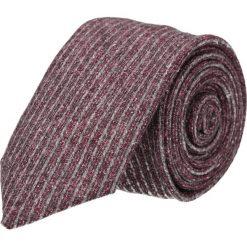 Krawaty męskie: krawat platinum bordo classic 212