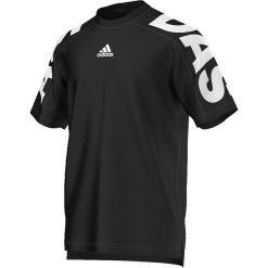 Adidas Koszulka męska  Linear 3S Tee czarna r. M (AK1819). Białe koszulki sportowe męskie marki Adidas, l, z jersey, do piłki nożnej. Za 87,38 zł.
