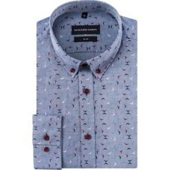 Koszula SIMONE slim KDWS000409. Czarne koszule męskie na spinki marki TOM TAILOR DENIM, l, z bawełny, button down, z długim rękawem. Za 169,00 zł.