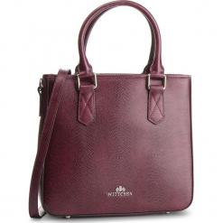 Torebka WITTCHEN - 87-4E-428-2 Bordowy. Czerwone torebki klasyczne damskie marki Wittchen, ze skóry, zdobione. W wyprzedaży za 449,00 zł.