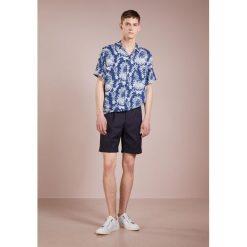 Koszule męskie na spinki: Editions MR SHORT SLEEVE  Koszula toile de jouy blue/off white