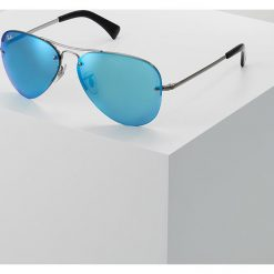 Okulary przeciwsłoneczne damskie: RayBan Okulary przeciwsłoneczne gunmetal light green mirror blue