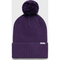Converse - Czapka. Niebieskie czapki zimowe damskie marki Converse, na zimę, z bawełny. W wyprzedaży za 79,90 zł.
