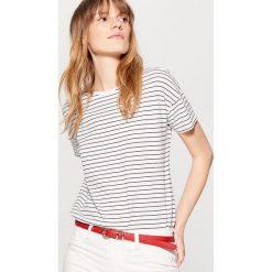 Bluzki, topy, tuniki: Koszulka z asymetrycznym dołem – Czarny