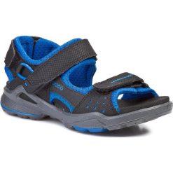 Sandały ECCO - Biom Sandal 70355258513 Black/Dynasty. Czarne sandały chłopięce ecco, z materiału. W wyprzedaży za 199,00 zł.