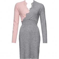 Sukienka dzianinowa bonprix dymny jasnoróżowy - szary. Różowe sukienki dzianinowe marki numoco, l, z dekoltem w łódkę, oversize. Za 109,99 zł.