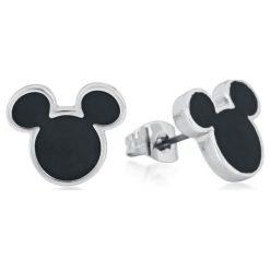 Myszka Miki i Minnie Disney by Couture Kingdom - Mickey Kolczyki - Earpin srebrny. Szare kolczyki damskie Myszka Miki i Minnie, srebrne. Za 121,90 zł.