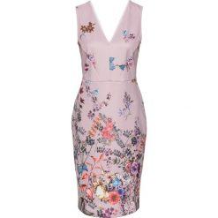 Sukienki: Sukienka bonprix matowy jasnoróżowy z nadrukiem