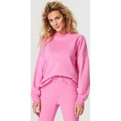 Bluzy damskie: Długa bluza oversize – Różowy