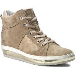Sneakersy KHRIO - 161K4004SPSLQ Sand/Gold. Brązowe sneakersy damskie Khrio, z materiału. W wyprzedaży za 309,00 zł.
