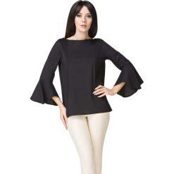 Czarna Bluzka z Hiszpańskim Rękawem. Czarne bluzki longsleeves Molly.pl, l, w jednolite wzory, z jeansu, biznesowe. Za 149,00 zł.