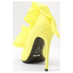 Szpilki: MSGM ROUCHES DECOLLETE Szpilki yellow
