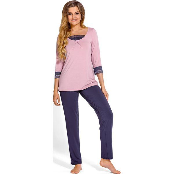 d745bfbe0ed053 Elegancka piżama Medine - Szare piżamy damskie Babella, bez wzorów ...