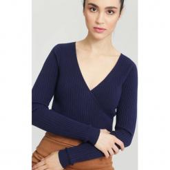 Granatowy Sweter Out in front. Niebieskie swetry klasyczne damskie other, na jesień, l. Za 39,99 zł.