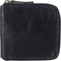 """Portfele męskie: Skórzany portfel """"Bryant"""" w kolorze granatowym – 11 x 11 x 2 cm"""