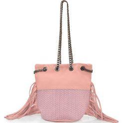"""Torebki klasyczne damskie: Skórzana torebka """"Lauren"""" w kolorze jasnoróżowym – 17 x 20 x 30 cm"""