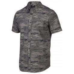 Oakley Koszula Grain Woven Grigo Scuro S. Szare koszule męskie marki Oakley, na lato, m, z bawełny, z klasycznym kołnierzykiem, z krótkim rękawem. W wyprzedaży za 149,00 zł.