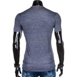 T-SHIRT MĘSKI BEZ NADRUKU S885 - GRANATOWY. Niebieskie t-shirty męskie z nadrukiem marki Ombre Clothing, m, z bawełny. Za 19,99 zł.