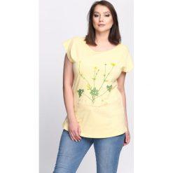 Bluzki, topy, tuniki: Żółty T-shirt Just In Time