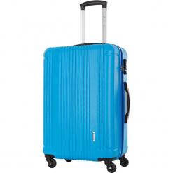 Walizka w kolorze niebieskim - 63 l. Niebieskie walizki Platinium, z materiału. W wyprzedaży za 219,95 zł.