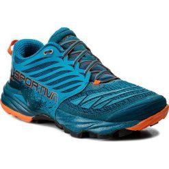 Buty LA SPORTIVA - Akasha 26Y606304 Ocean/Flame. Niebieskie buty trekkingowe męskie La Sportiva, z materiału, do biegania. W wyprzedaży za 509,00 zł.