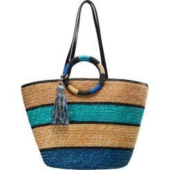 Shopper bag damskie: Rebecca Minkoff STRAW TOTE Torba na zakupy blue