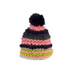 Czapka damska kolorowa na zimę szaro koralowa. Pomarańczowe czapki zimowe damskie marki Art of Polo, na zimę, w kolorowe wzory. Za 30,84 zł.