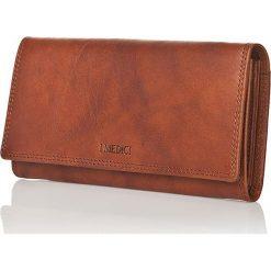 Portfele damskie: Skórzany portfel w kolorze jasnobrązowym – 11 x 19 x 2,5 cm