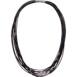 Naszyjniki damskie: Czarny naszyjnik z żyłkami QUIOSQUE