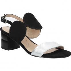 Czarne sandały skórzane na ozdobnym obcasie Oleksy 2292/147/963/000/000. Szare sandały damskie marki Oleksy, ze skóry. Za 238,99 zł.