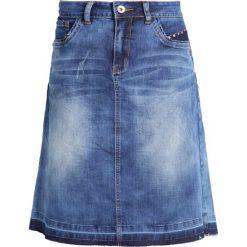 Cream Spódnica trapezowa rich blue denim. Niebieskie spódniczki jeansowe Cream, trapezowe. Za 369,00 zł.