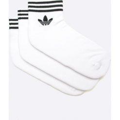 Adidas Originals - Skarpetki (3-Pack). Białe skarpetki damskie adidas Originals, z bawełny. Za 54,90 zł.