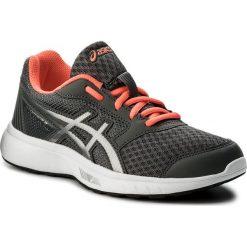 Buty ASICS - Stormer 2 T893N  Carbon/Silver/Flash Coral 9793. Szare buty do biegania damskie Asics, z materiału. W wyprzedaży za 159,00 zł.