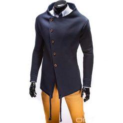 BLUZA MĘSKA ROZPINANA BEZ KAPTURA B310 - GRANATOWA. Czarne bluzy męskie rozpinane marki Ombre Clothing, m, z bawełny, bez kaptura. Za 99,00 zł.
