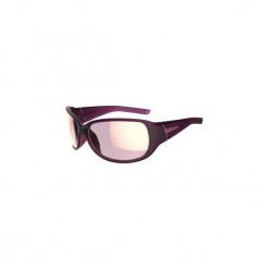 Okulary przeciwsłoneczne MH 510 polaryzacyjne kategoria 3. Fioletowe okulary przeciwsłoneczne damskie aviatory QUECHUA, z gumy. Za 99,99 zł.