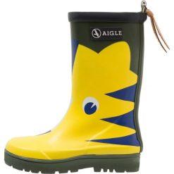 Aigle POP FUN Kalosze yellow. Żółte kalosze damskie Aigle, z kauczuku. Za 179,00 zł.