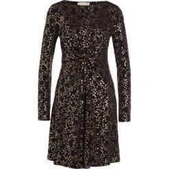 MICHAEL Michael Kors Sukienka koktajlowa black gold. Czarne sukienki koktajlowe marki MICHAEL Michael Kors, xs, z elastanu. W wyprzedaży za 368,55 zł.