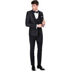 Garnitur LIVIO GASS000099. Czarne garnitury Giacomo Conti, paisley, z wełny. Za 2199,00 zł.