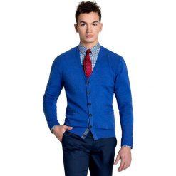 Sweter IGNAZIO 15-26SR. Niebieskie swetry rozpinane męskie Giacomo Conti, m, z poliakrylu, eleganckie. Za 199,00 zł.