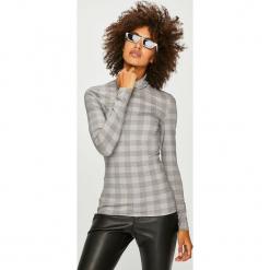 Vero Moda - Bluzka. Szare bluzki asymetryczne Vero Moda, l, z dzianiny, casualowe, z golfem. Za 69,90 zł.