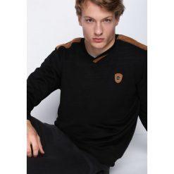 Swetry klasyczne męskie: Czarny Sweter Empathy