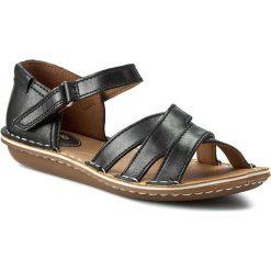 Rzymianki damskie: Sandały CLARKS – Tustin Sahara 261175264 Black Leather