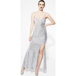 Długie sukienki: Srebrna Sukienka Shine On Me