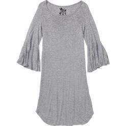 Bielizna nocna: Koszula nocna z falbanami bonprix jasnoszary melanż