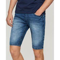 Odzież męska: Jeansowe szorty jogger - Niebieski