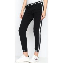 Spodnie dresowe damskie: Czarne Spodnie Dresowe Happy Days