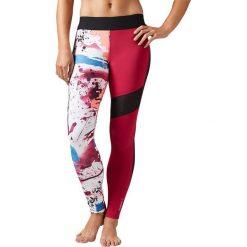 Reebok Spodnie damskie Elite Tight czerwone r. M (BK1907). Szare spodnie sportowe damskie marki Reebok, l, z dzianiny, casualowe, z okrągłym kołnierzem. Za 217,48 zł.