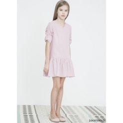 Sukienki dziewczęce z falbanami: SUNNY SPRING różowa sukienka dla dziewczynek