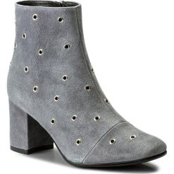Botki EVA MINGE - Felicidad 2L 17SF1372284EF 809. Szare buty zimowe damskie Eva Minge, ze skóry, na obcasie. W wyprzedaży za 259,00 zł.