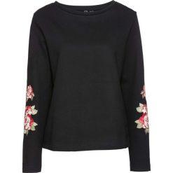Bluza z aplikacjami bonprix czarny. Czarne bluzy damskie bonprix, z aplikacjami. Za 49,99 zł.